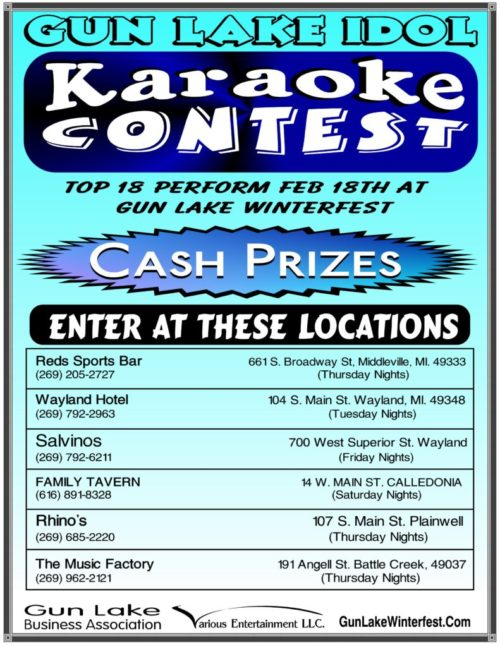 Gun Lake Idol Karaoke Contest Schedule